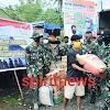 Kasilog Korem 141/Tp, Mewakili Danrem Berigjen Djashar, Serahkan Bantuan Pada Korban Banjir Bandang di Lutra