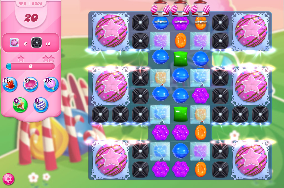 Candy Crush Saga level 5208