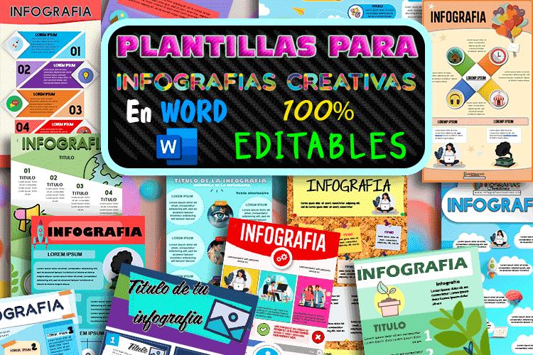 plantillas para infografías editables en Word gratis