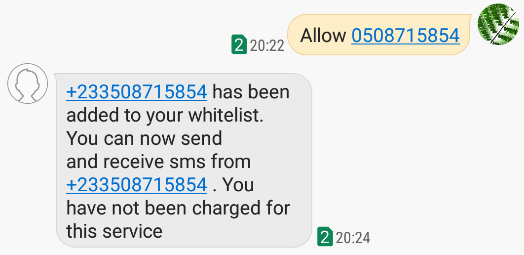 Block Unsolicited SMS (Spam) on MTN Ghana