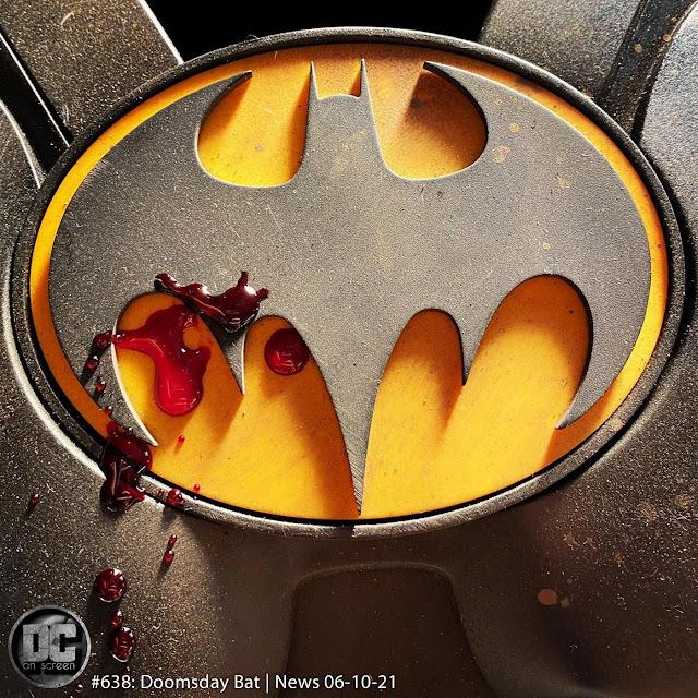 Michael Keaton's Batsuit splattered with blood
