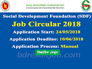 Social Development Foundation (SDF) Job Circular 2018