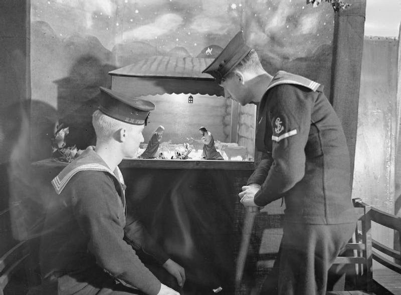 Christmas in the Royal Navy during the Second World War ~ vintage