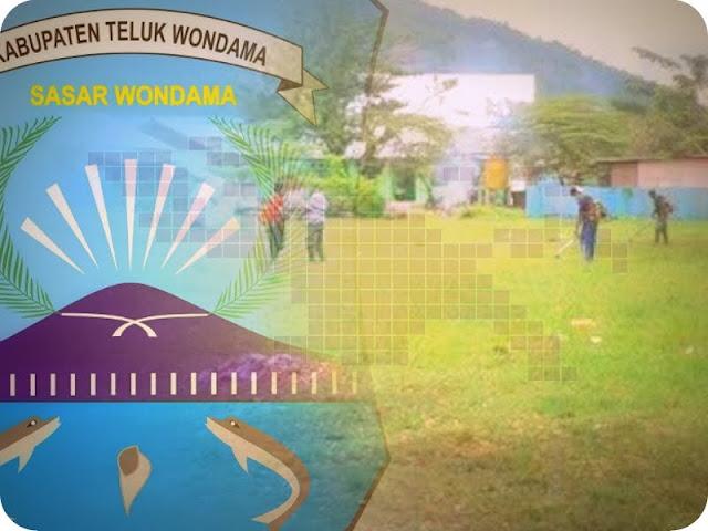 Distrik Wasior Berbenah Sambut HUT Ke-14 Kabupaten Teluk Wondama