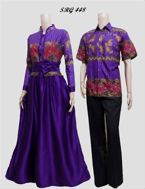 model baju batik pasangan suami istri