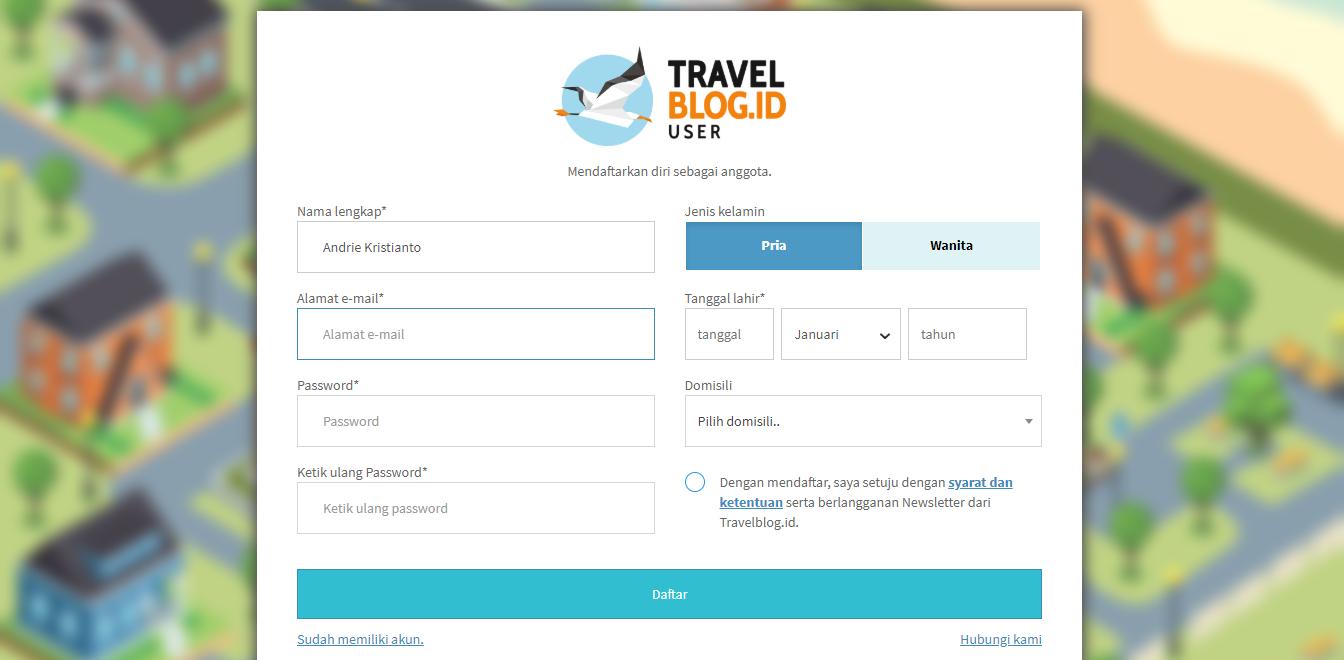 Cara Menjadi Kontributor atau Penulis di Travelblog id