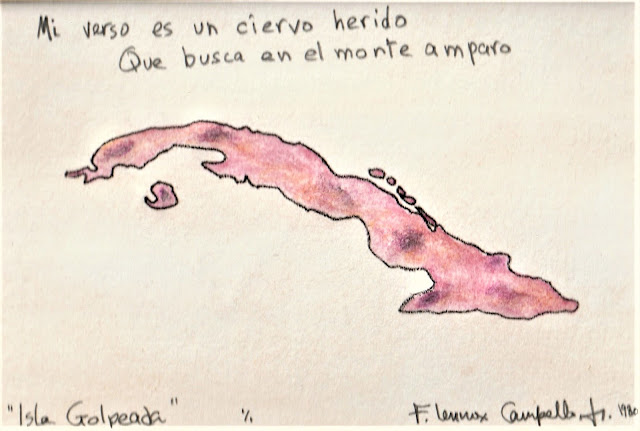 Cuba - Isla Golpeada - 1980 F. Lennox Campello