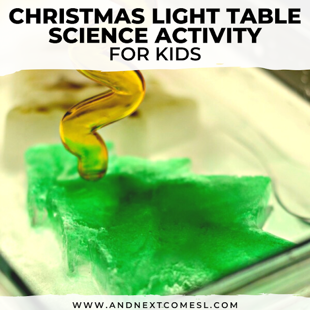Christmas science on the light table