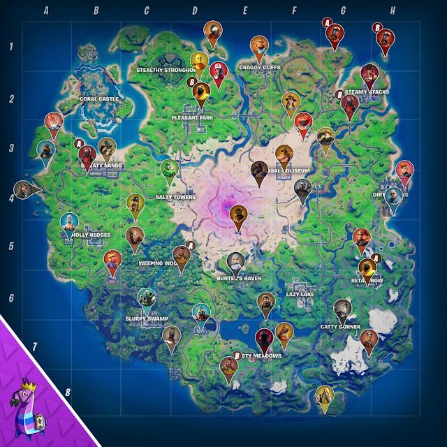 Fortnite all NPC locations in season 5