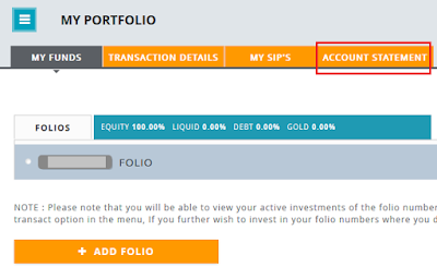 Canara Robeco Mutual Fund Account Statement