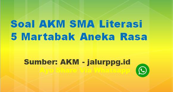 Soal AKM SMA Literasi 5 Martabak Aneka Rasa - www.jalurppg.id