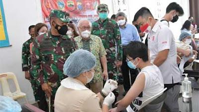 Kodam I BB Bersama Perhimpunan Inti Sumut dan Yayasan Wijaya Kebut Program Vaksinasi