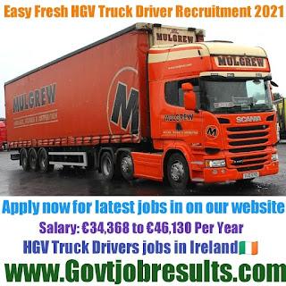 Easy Fresh HGV Truck Driver Recruitment 2021-22