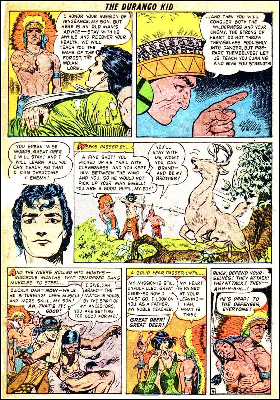 Frank Frazetta 1940s golden age western comic book page / Durango Kid #1