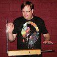 Rick Reid plays his first theremin.