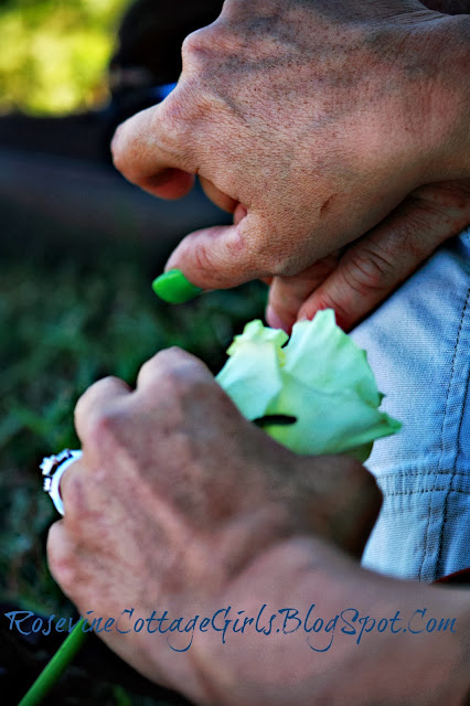 infant loss, mother and daughter holding hands at grandsons funeral |rosevinecottagegirls.com