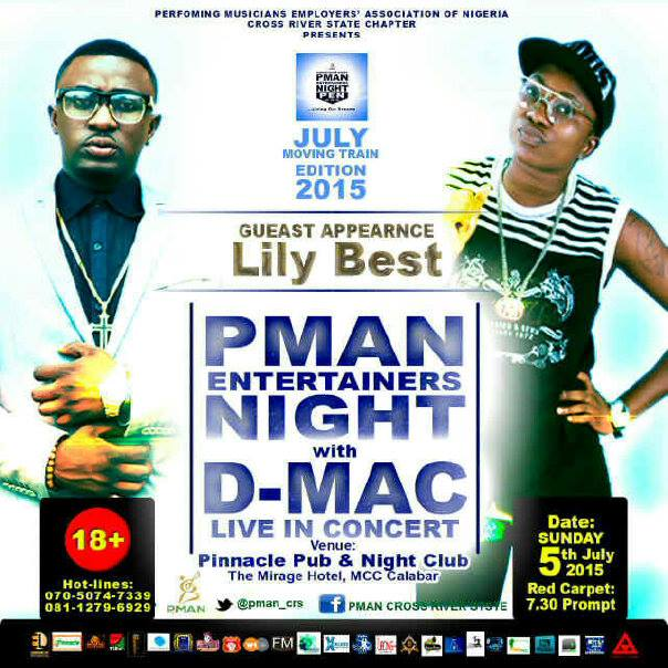 South-South Diva Lily Best set to Storm Calabar for 'PMAN Nite with