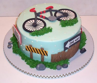 Happy Birthday Cyclist Cake