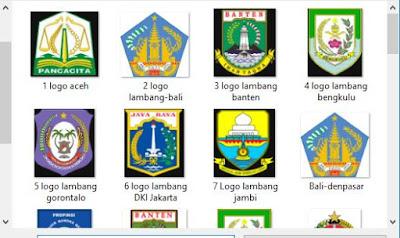 Daftar Nama, Logo, Lambang, Moto, Bahasa 34 Provinsi Di Seluruh Indonesia