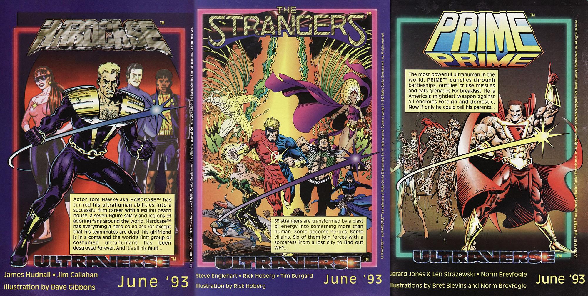 Ultraverse titoli di lancio Prime Hardcase Strangers