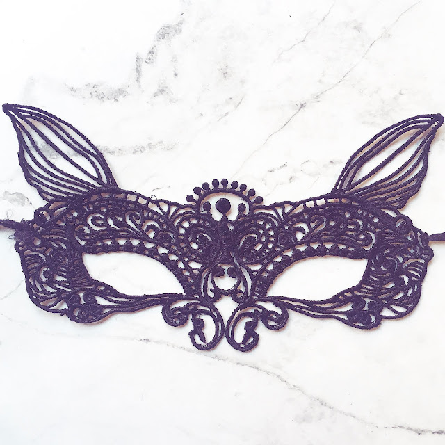 Lovelaughslipstick blog Halloween Inspiration and Fashion Beauty Accessories black lace cat mask from depop