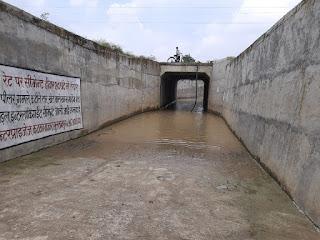 रेलवे क्रासिंग पर बनाया गया अंडरग्राउंड बना मुसीबत, स्टेशन अधीक्षक से मिले ग्रामीण | #NayaSabera