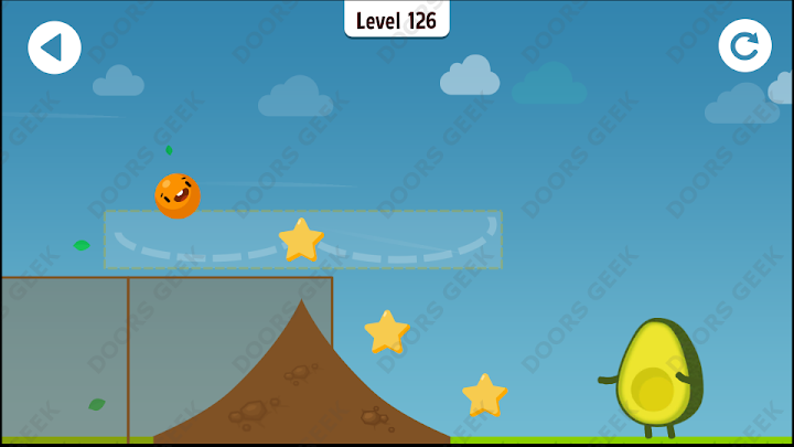 Where's My Avocado? Level 126 Solution, Cheats, Walkthrough, 3 Stars for Android, iPhone, iPad and iPod