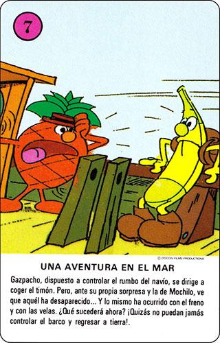 Baraja Los Fruittis Carta rosa 7