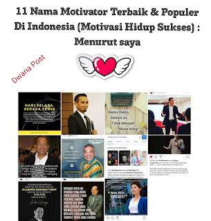 11 Nama Motivator Terbaik & Populer Di Indonesia (Motivasi Hidup Sukses) : Menurut saya