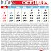 Descargar en PDF  Calendario escolar oficial (MPPE) 2020-2021 mes de Octubre