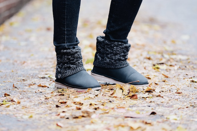 Print Sweater and Cozy Boots- Mari Estilo- QVC-DCBlogger