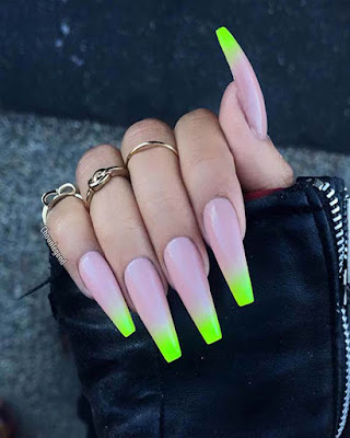 coffin nails long trendy