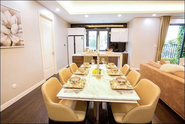 Phòng bếp hiện đại và đầy đủ tiện nghi