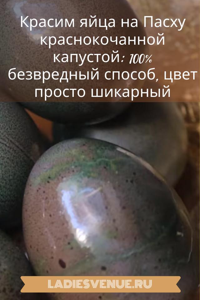 Красим яйца на Пасху краснокочанной капустой: 100% безвредный способ, цвет просто шикарный