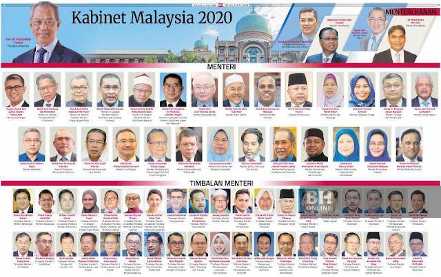 Senarai Penuh Menteri Kabinet 2020