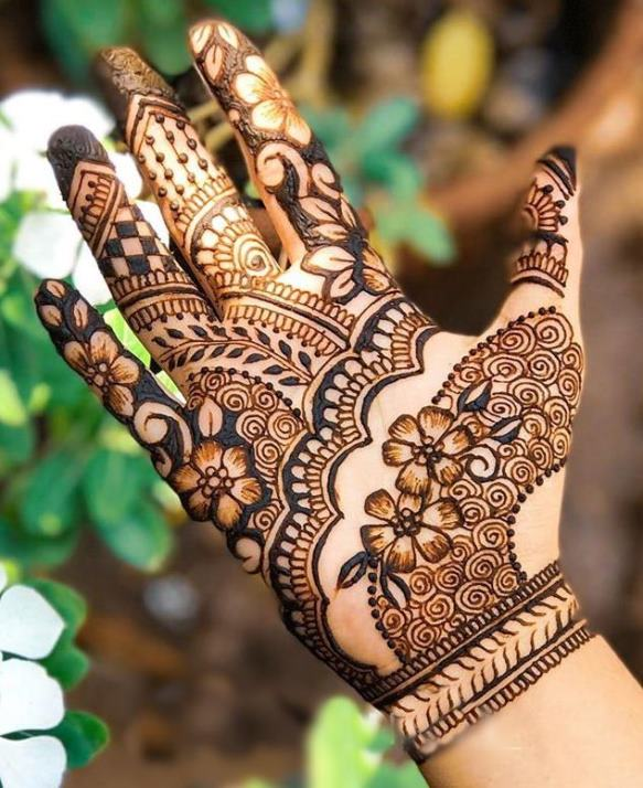 Party Mehndi Design for Front