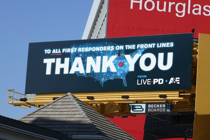 first responders front lines Thank You Live PD billboard