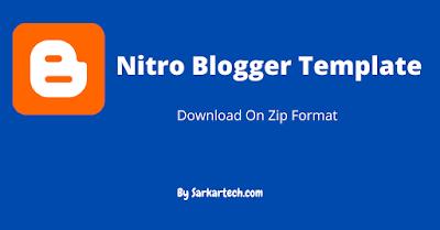 Nitro Blogger Template