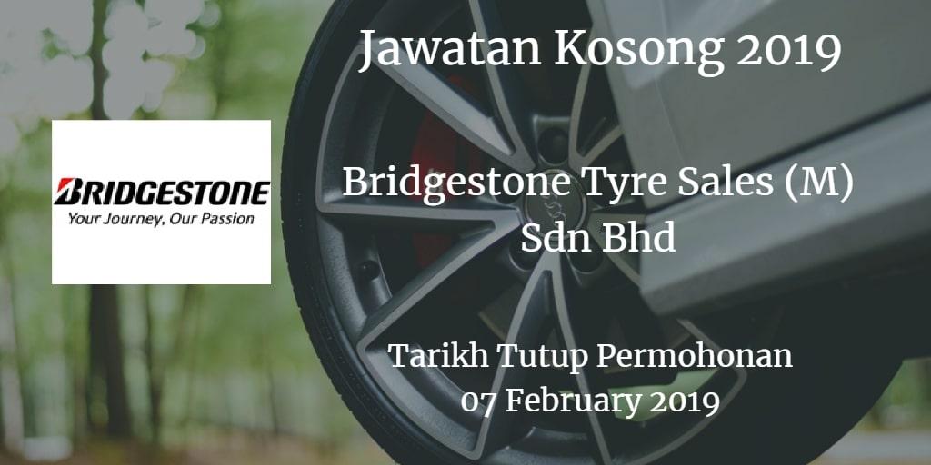 Jawatan Kosong Bridgestone Tyre Sales (M) Sdn Bhd 07 February 2019