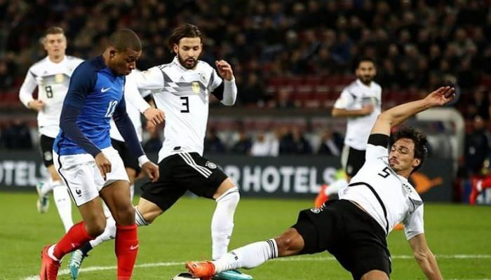 فرنسا تهزم المانيا بهدف في معقل الديار