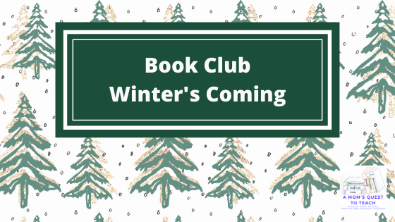 Book Club: Winter's Coming; snow covered evergreen clipart