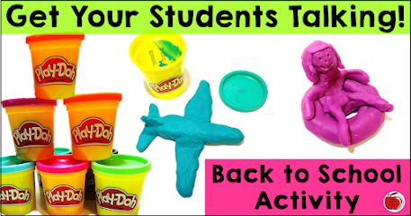 Get your students talking with play doh back to school activity Terri's Teaching Treasures
