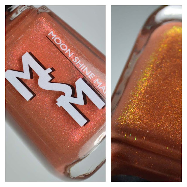 cinnamon red brown nail polish with shimmer in a bottle