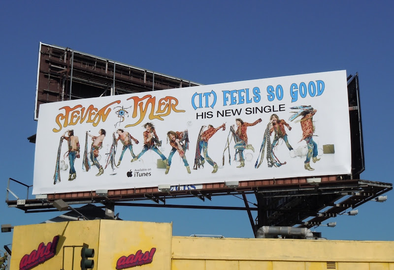 Steven Tyler Feels So Good billboard