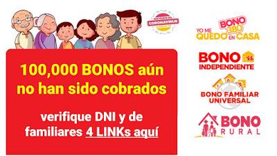FALTAN recoger 100 mil BONOS verifica tu DNI o si tus familiares tienen pendiente uno de estos 4 BONOS