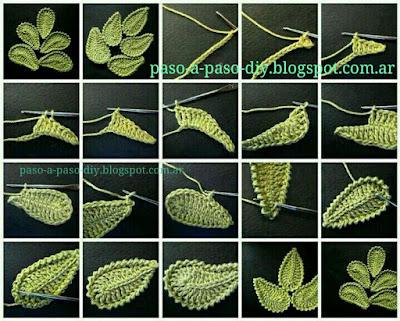 Cómo hacer hojas al Crochet