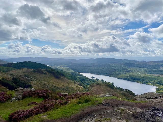 Loch Achray from Ben A'an, Trossachs National Park, Scotland