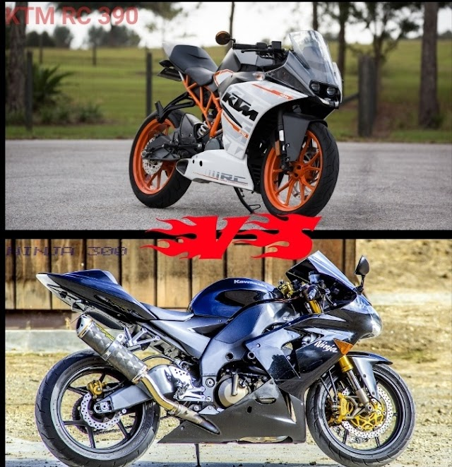 KTM RC 390 VS KAWASAKI NINJA 300 # COMPARES SPECS AND PRICES