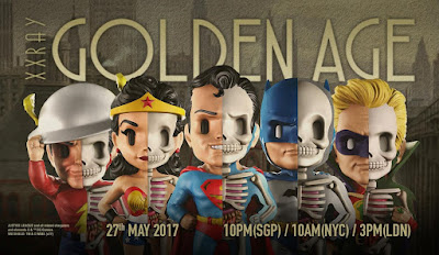 DC Comics XXRAY Dissection Golden Age Series Vinyl Figures by Jason Freeny & Mighty Jaxx - Batman, Superman, Wonder Woman, Jay Garrick The Flash and Green Lantern Alan Scott