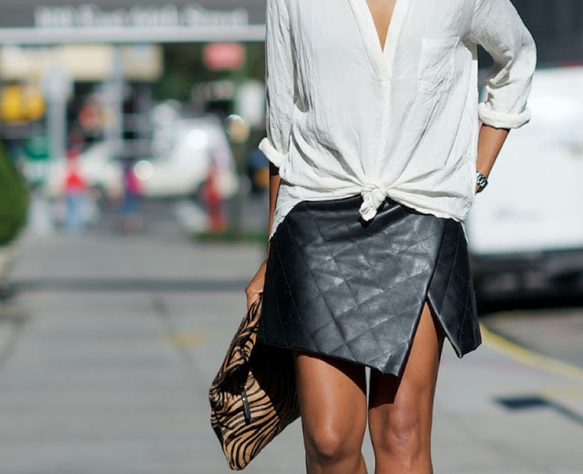quilted wrap skirt style